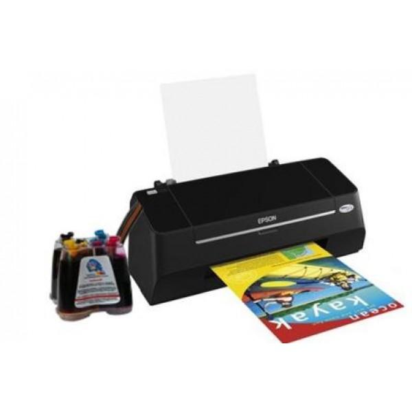 Комплект: принтер Epson Stylus T27+СНПЧ+набор чернил