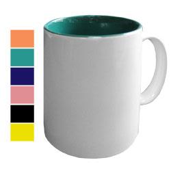 Кружка цветная внутри для сублимации